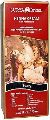 Black Henna Cream, Surya Brasil, 2.31 oz 1 pack
