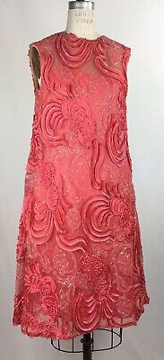 Clothes Of The 60s (60s Ribbon Lace snap shoulder side zip mother of the bride silk)