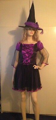 Ladies Sexy Gothic Ballerina Witch Dark Fairy Fancy Dress Costume S 8-12 USED](Dark Ballerina Costumes)