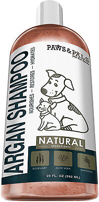Tearless Dog Shampoo (Pet Argan Oil Shampoo Conditioner for Dog Cat Tearless Moisturizing Bath-20 oz. )