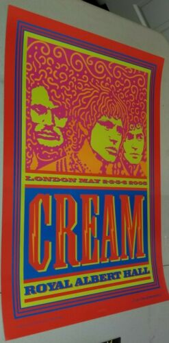 CREAM Royal Albert Hall 05 Original Concert Poster Embossed Clapton Baker Bruce