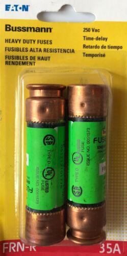 2-Pack Cooper Bussmann 35A Heavy-Duty Time Delay Cartridge Fuses - BP/FRN-R-35