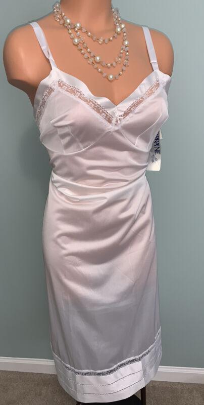 Vtg NWT NOS Lorraine 36 38 Tall Nylon Full Slip Nightgown Dress WOW SOFT! Sissy