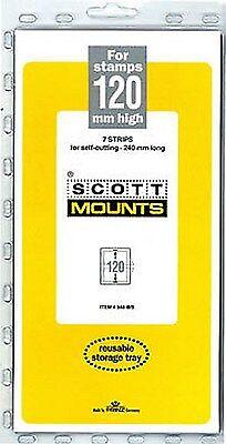 Prinz Scott Stamp Mount 120/240 - BLACK Background - Pack of 7