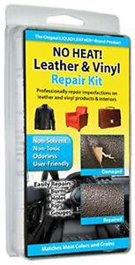 No Heat Liquid Leather & Vinyl Repair Kit Fix Holes Burns Rips Gouges