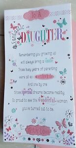 Daughter Birthday Card With Sentiment Verse Pop-Out Centre