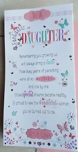 Daughter Birthday Card With Sentiment Verse Pop Out Centre