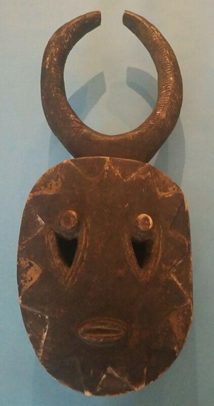 Vintage Hand Carved Wood Tribal Mask