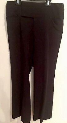 Metro 7 Womens Career Dress Pants Black Long Flare Leg Size Missy (Missy Flare Leg Pant)