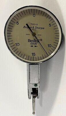 Brown Sharpe 599-7031-3 Bestest Dial Test Indicator .030 Range .0005