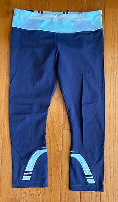 Lululemon Run Inspire Crop II Cadet Blue Su14 Quilt Full-on Luxtreme Size 8