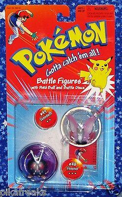 New Venomoth and Venonat Pokemon Battle Figures 2 Pack Hasbro 1999 Mini Figures