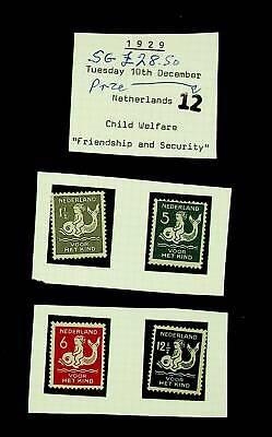 NEDERLAND 1929 CHILD WELFARE SET OF 4 MNH STAMPS SG £28.50