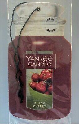 New Yankee Candle Fragrance-Infused Car Jar Air Freshener Black Cherry!