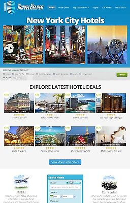 Fully Automated Hotel Flight Car Rental Search Engine Website