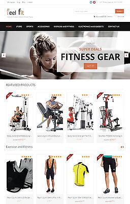 Fitness Gear Website - Turnkey Amazon Affiliate Store