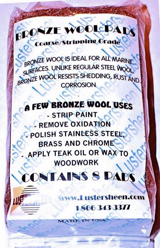 Lustersheen 8 Pad Pack Bronze Wool Grade Coarse