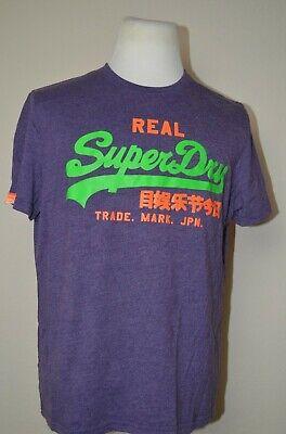 SUPERDRY Mens T-Shirt Top Men's Size XL (Fits size Large) Purple