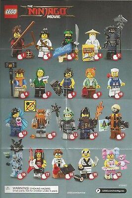 LEGO Blind Bag Minifigures 71019 - Ninjago Movie - Full Set of 20 Lot