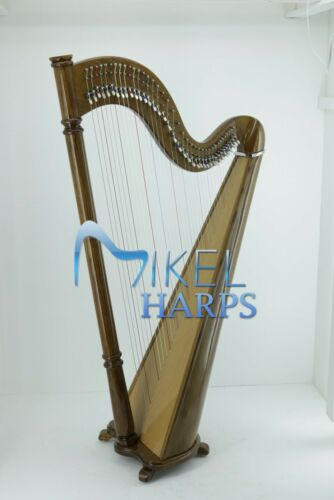 Mikel 38 Strings Lever Harp Walnut Finish by Mikel Harps