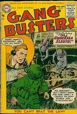 Gangbusters, 3 DC Golden age comic book Lot,#'s 47,49,50 Free Shipping