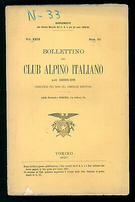 BOLLETTINO DEL CLUB ALPINO ITALIANO N. 62 VOL. XXIX 1895-96 MONTAGNA