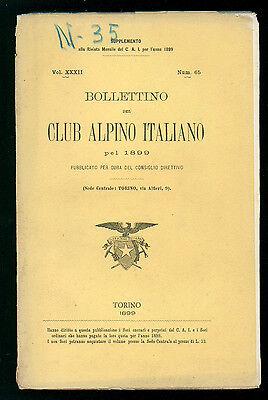 BOLLETTINO DEL CLUB ALPINO ITALIANO N. 65 VOL. XXXII 1899 MONTAGNA