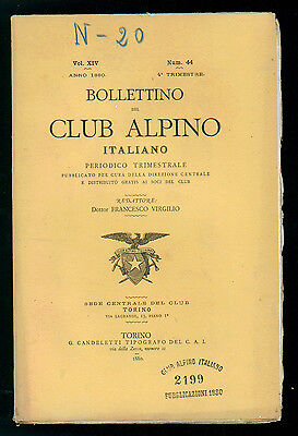 BOLLETTINO DEL CLUB ALPINO ITALIANO N. 44 VOL. XIV 4° TRIMESTRE 1880 MONTAGNA