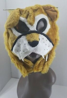 Creepy Creatures Zoo Lion Fur Mask Weird Animal Face Play Wear Vintage New/Tag - Weird Masks