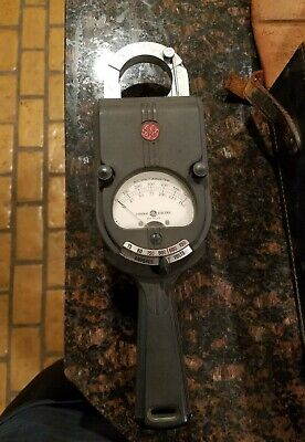 Vintage General Electric Ac Clamp-on Amp Meter Voltmeter - Ak-1