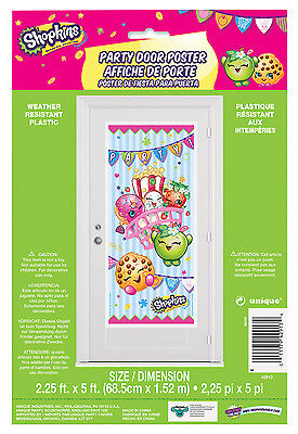 Shopkins Door Decoration Happy Birthday Party Supplies Decorations ~ 5 ft Tall
