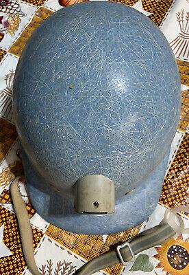 Vintage Superglas Fibremetal Hard Hat Helmet Fiberglass Blue Miner Type