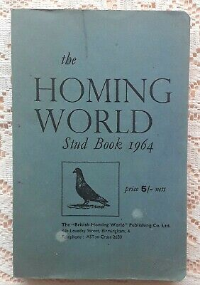 THE HOMING WORLD STUD BOOK 1964 PIGEON RACING