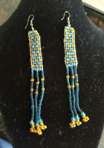Artisanal Handmade Beaded Pierced Earrings