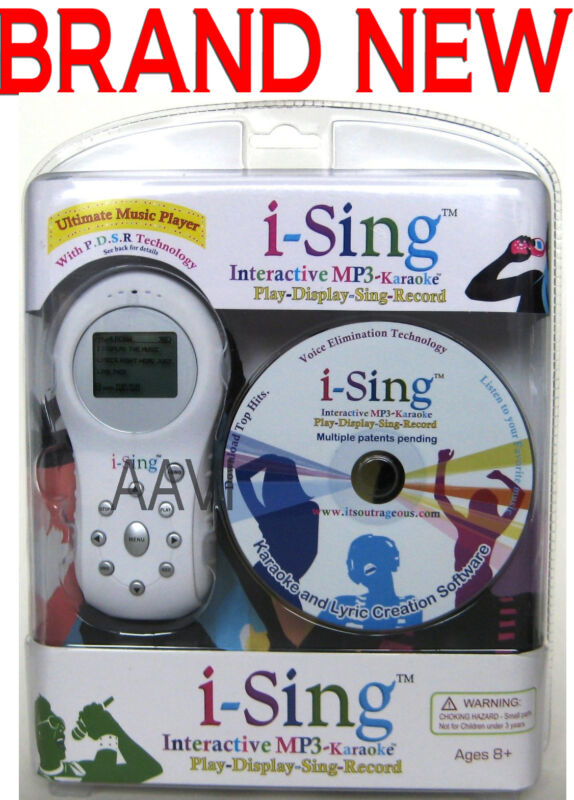 i-Sing Interactive MP3 Karaoke Display Sing Record Ultimate Music Player White