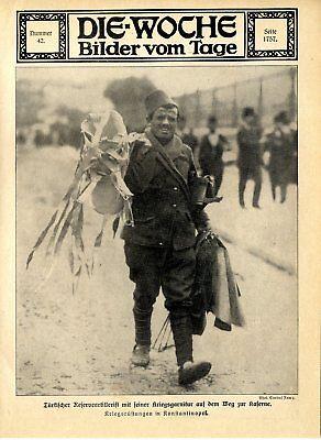 Balkankrieg Konstantinopel Türkischer Reservist auf dem Weg zur Kaserne von 1912