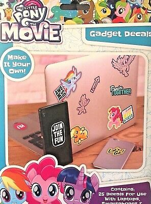 My Little Pony The Movie Gadget Decals 25 Stickers for phones laptops ipads