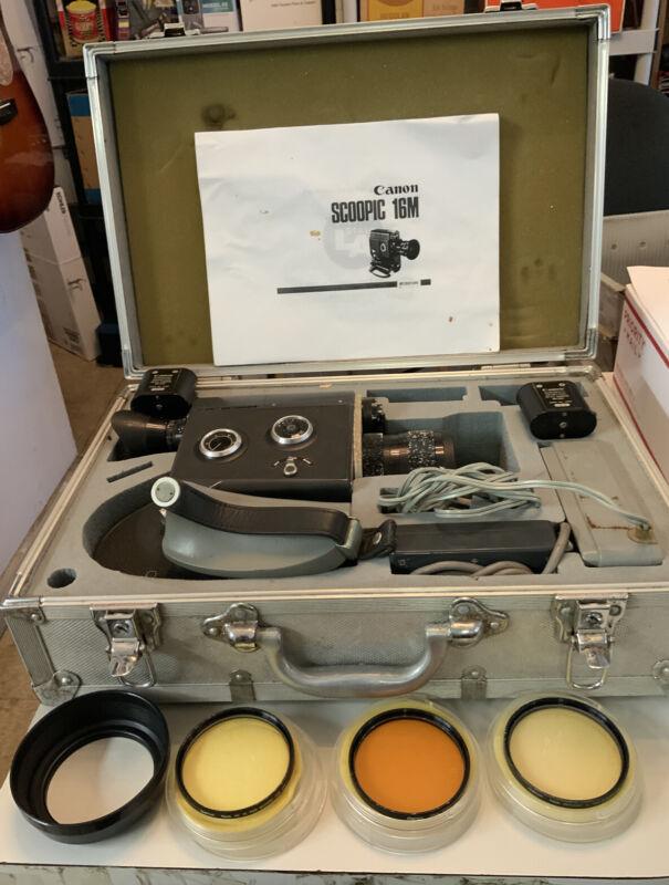 Vintage CANON SCOOPIC 16 Old 16mm Film Movie Camera Kit Set JAPAN Tested Works !