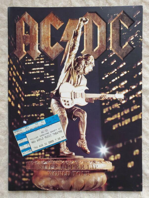 AC/DC Stiff Upper Lip World Tour 2000 Program w/Ticket Stub