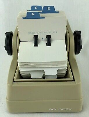 Rolodex Zephyr American Corp Small Cards 2 34 X 1 12 Rotary File Rare Vintag