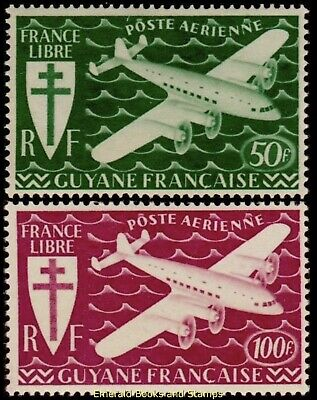 EBS French Guiana 1945 - France Libre - London Series - GY PA 26-27 MNH**