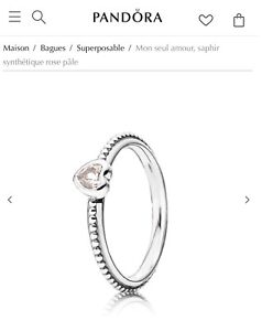 Pandora One Love Stackable Ring in Pink Sapphire