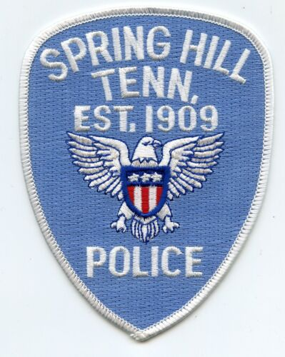 SPRING HILL TENNESSEE TN POLICE PATCH
