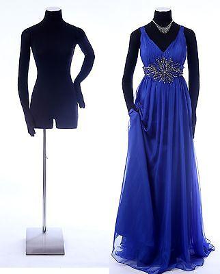 Female Mannequin 342635 With Flexible Armshands Black Dress Form-rh