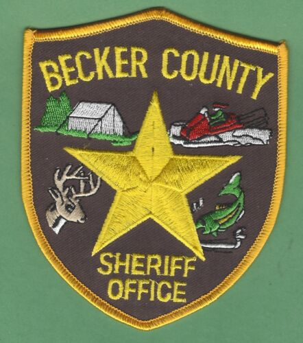 BECKER COUNTY SHERIFF MINNESOTA SHOULDER PATCH