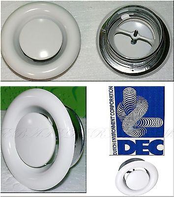 DEC Design Luftung Teller Decken ventil Weis DVS125mm Abluft Anemostat Bad WC K1