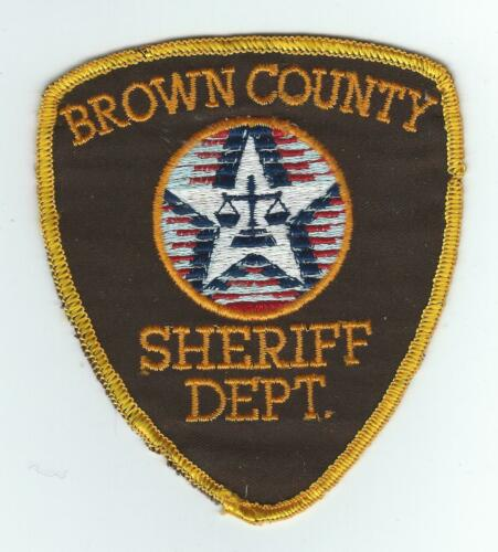 VINTAGE BROWN COUNTY, WISCONSIN SHERIFF DEPT. (CHEESE CLOTH BACK) patch