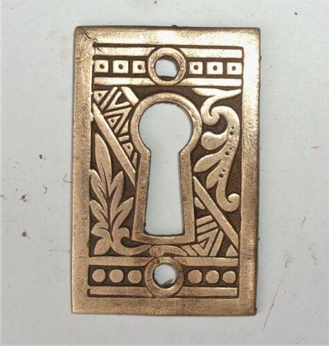 "Antique Victorian Eastlake Ornate Key Hole Plate Cover Escutcheon 1.75"" x 1.25"""