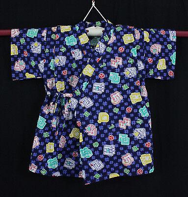 甚平 Jinbei Kleidung traditionelle japanisches Kind 3/5 Jahre Hergestellt in Japan
