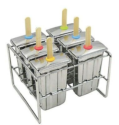 Commercial Grade Stainless Steel Popsicle Mold, Freezer Ice Pop Maker Tray, NEW